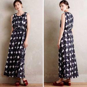 Anthropologie Inkwash Maxi Dress